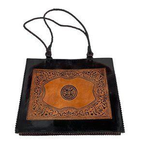Aldo genuine leather orange and brown Aztec purse